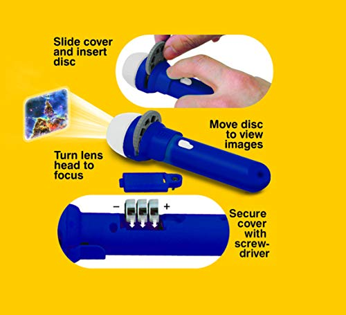 Brainstorm Toys E2008 Space Torch & Projector, Blue