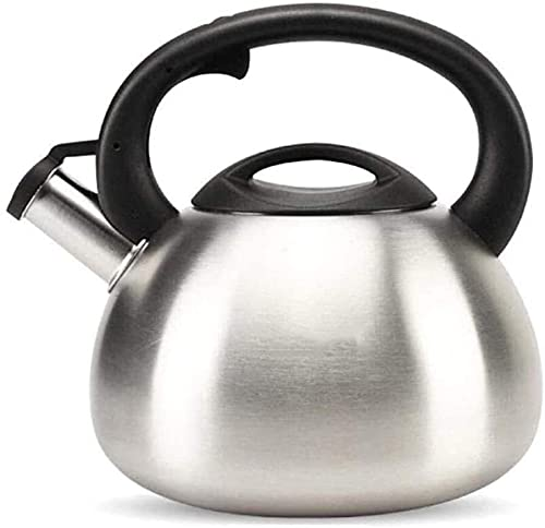 Stainless Steel Whistling Kettle Large Whistling Kettle Teapot 3.5L Stainless Steel Teakettle Suitable for All Hob/Stove Types Including Induction