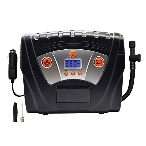 XXCLZ Auto-luchtcompressor, digitale banden, opblaasbare pomp, elektrische inflator, 12 V, voorgemonteerd bandenspanning, auto-stop, auto-pompen