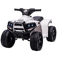 HOMCOM 6V Kids Electric Ride on Car ATV Toy Quad Bike Headlights for Toddlers 18-36 months