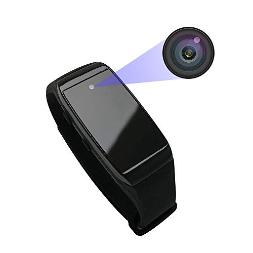 Aipinvip Mini Spy Camera 1080P Hidden Camera Bracelet Style Video Recorder Portable Small HD Nanny Cam Outdoor Covert Security Camera(not Include SD Card)