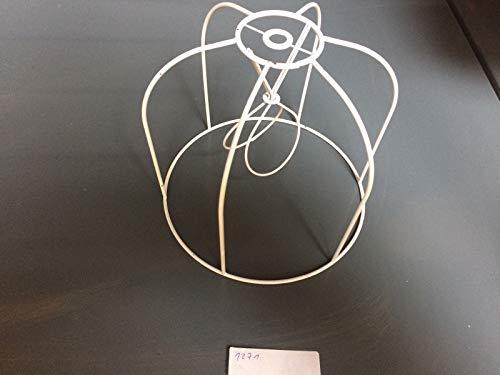 Aufsteck Schirmgestell Lampe Leuchten Retro Vintage weiß Leuchtenschirm Lampenschirm Drahtgestell Kronleuchter (20cm)