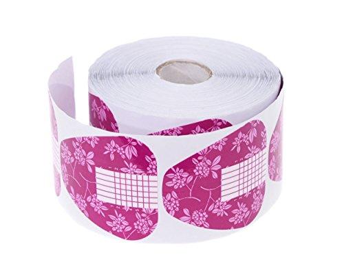 Etiqueta para modelar Plantillas Rosa rollo 500unidades modellier Plantilla Versión alemana–para gel UV acrílico y dedos–Clavo modelar y alargador