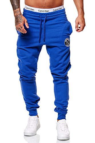 OneRedox Herren Jogginghose Sporthose Männer Trainingshose Sweatpants 3676C Blau XL