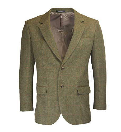 Herren Country-Blazer - Klassische Jacke aus Windsor-Tweed - Größe 64