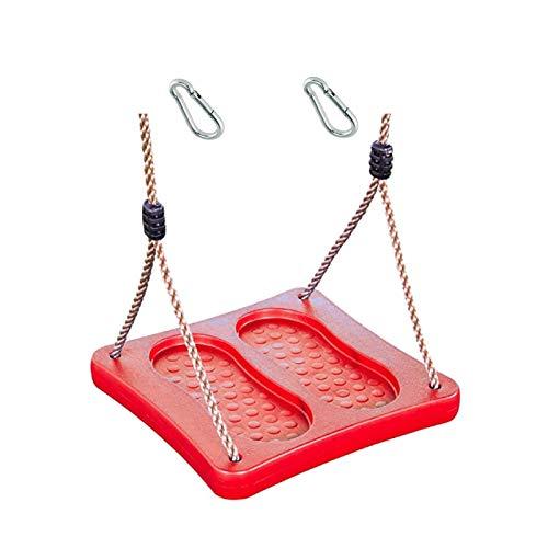 1 stuks h2i kindervoetschommel schommelplank rood schommels staand met karabijnhaak om op te hangen