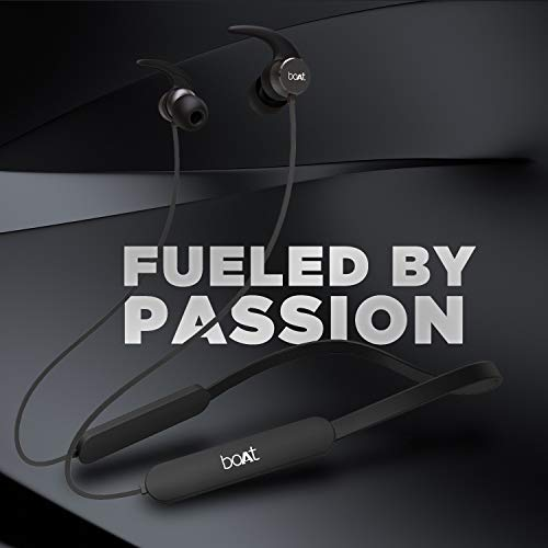 boAt Rockerz 255 Pro in-Ear Earphones with 10 Hours Battery, ASAP Charge, IPX5, Bluetooth V5.0 and Voice Assitant(Active Black)