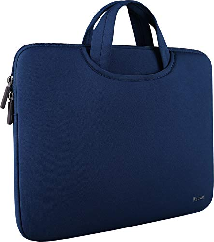 15 inch Laptop Bag,Resistant Neoprene Laptop Sleeve with Handle/Notebook Computer Protective Case Cover/Ultrabook Briefcase Carrying Bag for 13 14 15 inch Laptop, Computer, Tablet - Dark Blue