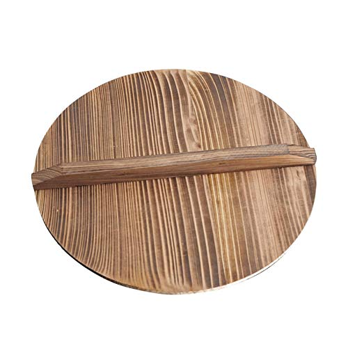 Wooden Wok Lid, Round Natural Wood Wok lid Wood Wok Lid With Handle, Lightweight Cedarwood Wok Lid for Stir Fry Pan, Anti-Hot, Anti-Spillover Wooden Kitchen Accessories