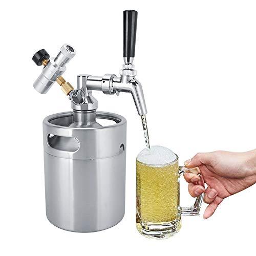 Sistema de Barril de Cerveza casera, Mini Sistema de Barril de Cerveza de Acero Inoxidable, Barril de Cerveza, Almacenamiento para fermentación