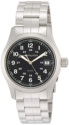 Hamilton Herren Analog Quarz Uhr mit Edelstahl Armband H68411133