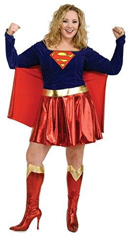 - Erwachsene Plus Size Supergirl Kostüme