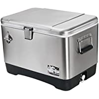 Igloo 54 Quart Stainless Steel Cooler (Clear)
