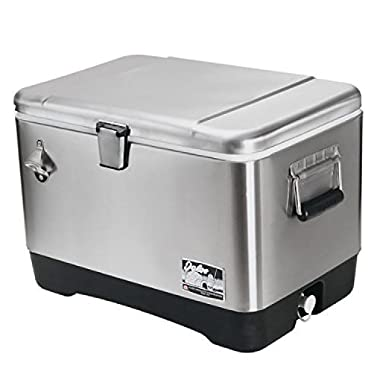 Igloo Products Corporation 00044669 Stainless Steel Cooler, 54 quart