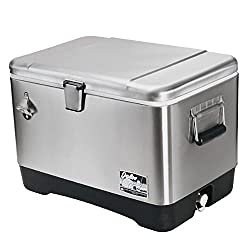 small 54qt stainless steel igloo cooler