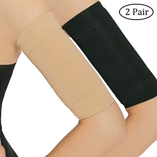 2 Pair Arm Slimming Sleeves, Upper Arm Shaper Helps Women Weight Loss and Tone Shape, Great Arm Compression Burn Calories and get rid of Excess Fat in...