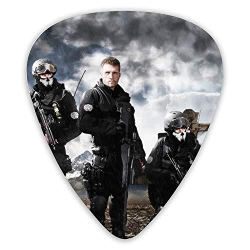 Call Of Duty Ghosts Elite - Juego de 12 púas de guitarra (doble cara, 12 unidades)
