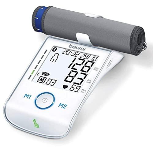 Beurer BM 85 - Tensiómetro de brazo (indicador de reposo, batería de iones de litio, conexión con aplicación con protección de datos certificada)