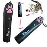 Winod Interactive Black LED Pointer Light for Pets with Fish Projected Motive