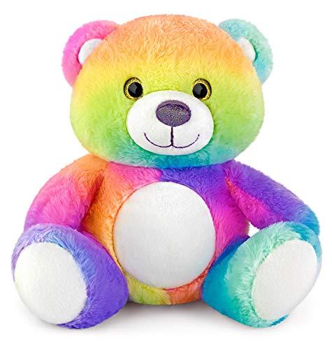 Mousehouse Gifts - Kuscheltier-Teddybär in Regenbogenfarben - 25 cm