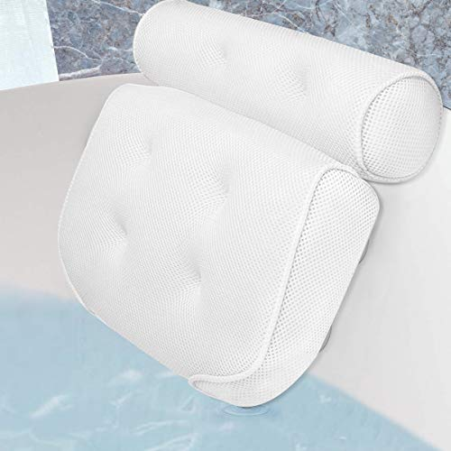 Vailge Bath Pillow Ergonomic Bath Pillows for Head and Neck with Suction...