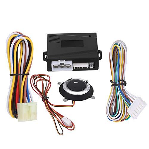 Yctze 12V Motor de coche universal Empuje el botón de arranque y parada Encendido Arrancador remoto