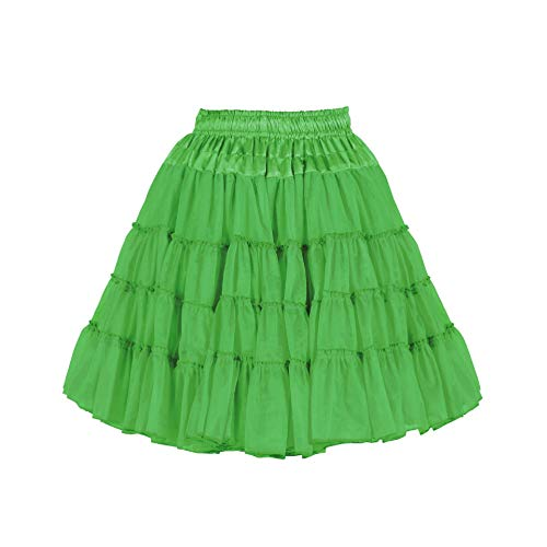 narrenkiste T0724-0300 - Enagua (2 capas, talla única), color verde
