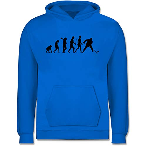 Evolution Kind - Eishockey Evolution - 128 (7/8 Jahre) - Himmelblau - Torwart Kinder Hoodie - JH001K JH001J Just Hoods Kids Hoodie - Kinder Hoodie
