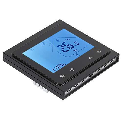 mit Touchscreen Prcatical Flexible Energiesparende Hochgenaue Smart Heating Thermostat Wöchentlich programmierbarer Thermostat Elektrisch für Warmwassersystem(Black)