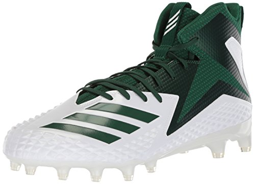 adidas Herren Freak X Carbon Mid Football-Schuhe, White Dark Green, 50 EU M