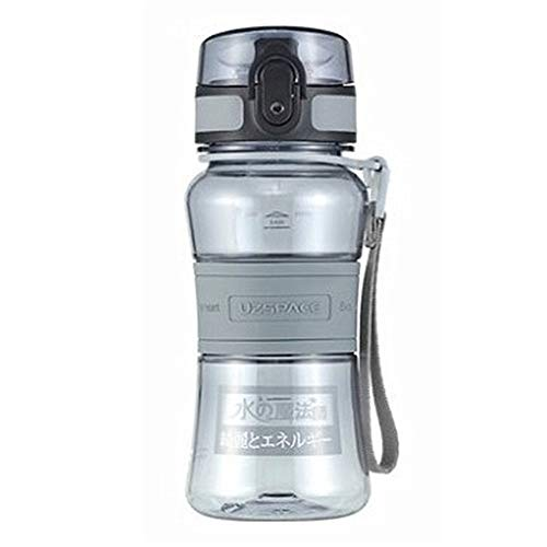Botellas Agua Deporte Botellas Botella Gimnasio For Botella Deportiva para Fitness, Gimnasio, Bicicleta, Gimnasio, Al Aire Libre, NiñOs, Escuela Gray,300ml