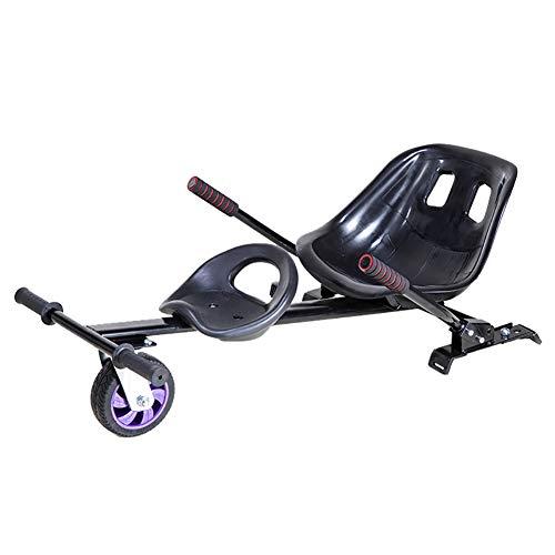 XAWV Accesorio De Asiento Doble Hoverboard,con Equipo De Protección Go Kart Cart Conversion Kit para 6.5' 8' 10' Hoverboard,Accesorios Kit Hover Board Compatibles para Niños Y Adultos-Negro Doble