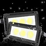 Clase de eficiencia energ/ética A+ 100W Focos Luces de Seguridad Reflector Exterior Floodlight LED S/úper Brillante de 10000LM Luz Blanca 6500K Foco de Paisaje Anti-rayos para Exterior Patio Trasero