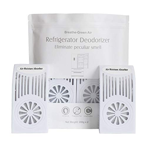 CANAGER Refrigerator Deodorizer, Freezer Odor Eliminator,Better Than Baking Soda-(White,2 Pack)