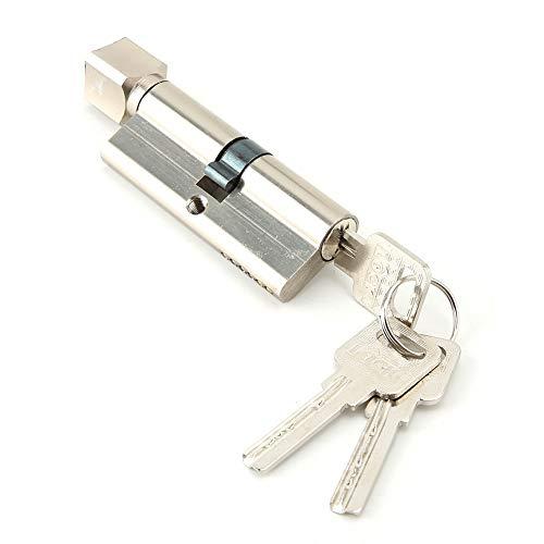 Cilindro Cerradura, Cilindro de Alta Seguridad, Doble Embrague, Leva Larga, 3 Llave, Latonado, 70mm x 29 mm