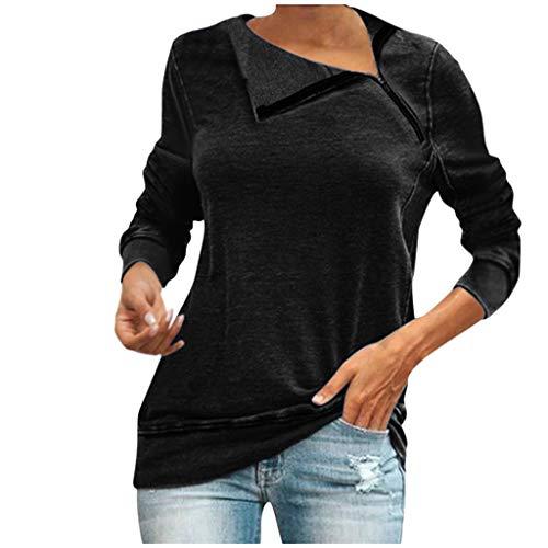 Ucoolcc Sweat Zip Femme Veste Pull Tendance Femme Sweatshirt Vêtements Décontractés Sweatshirt Pullover Manches Longues Sweater Tunique Automne Hiver Tops