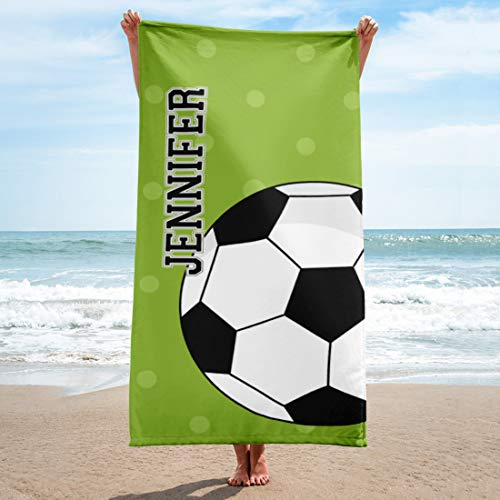 Personalized Soccer Beach Towel