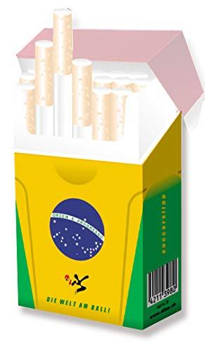 Schicke Hülle für Zigarettenschachteln - indo slipp Design Brasilien Trikot - Soccer-Edition (1 Stck.)
