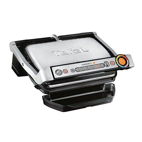 Tefal OptiGrill+ GC712D Kontaktgrill, 2.000 Watt, aut. Anzeige d. 6 voreingestellte Grillprogramme, 30 cm x 20 cm + verstellbarer manueller Modus besonders für Gemüse geeignet