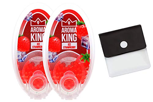 SweedZ Aroma Kapseln Ice Strawberry für Zigaretten + Taschenascher - 200 Kugeln