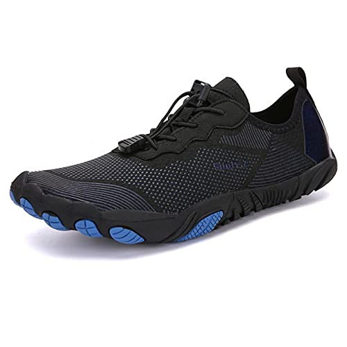 ZHJIUXING ST Escarpines Antideslizante Zapato de Agua Zapatos de Playa Escarpines Calzado de Playa Surf, Black, 46 EU