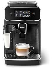 Philips 2200 seria EP2232/40 automatyczny ekspres do kawy, 3 specjały kawowe (system mleczny LatteGo), matowo-czarny/czarny szczotkowany