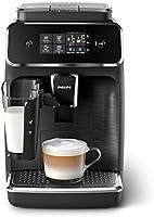 Philips EP2232/40 2200 Seria Automatyczny Ekspres do Kawy, 1500 W, 1,8 Litra, Czarno-Szczotkowany/Czarny Matowy