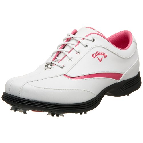 Callaway Women's Charm Golf Shoe,White/Magenta,5.5 M US
