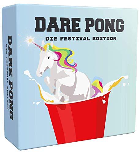 Dare Pong® - Beer Pong trifft auf Wahrheit oder Pflicht. Die Festival Edition 2021 ! Ideal für Festivals, Sommer- & Gartenpartys, Camping, Geburtstage oder als Geschenk für Festival-Fans