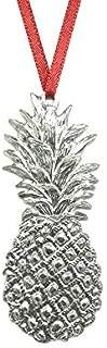 552 Southern Hospitality Pineapple Keepsake Holiday Christmas Ornament Pewter