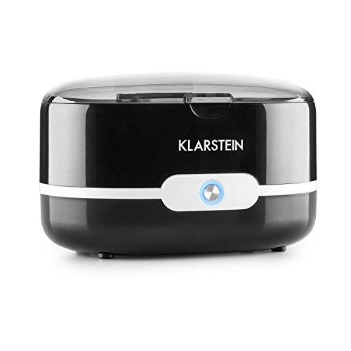KLARSTEIN Superpure Nettoyeur Ultrason (Ultrason : 42 kHz, idéal pour Lunettes et Bijoux, Fonctionne à l'eau du Robinet, Corbeille de Nettoyage) - Noir