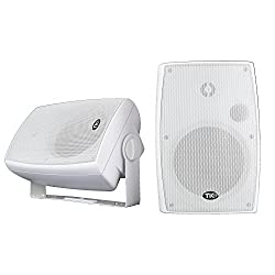 "top 10 wifi outdoor speakers TIC WPS6-W 6.5 ""Weatherproof WiFi Indoor Speaker for Outdoor Use with AirPlay (Pair) – White"