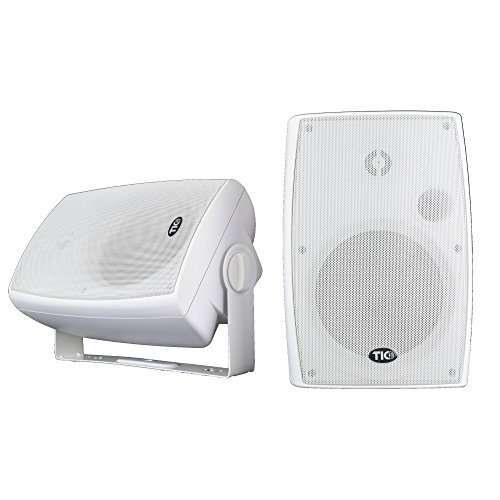 "TIC WPS6-W 6.5"" Outdoor Weather-Resistant WiFi Patio Speakers with AirPlay (Pair) - White"