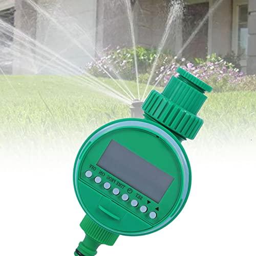 BIWASimple Controlador de Riego Digital LCD, Temporizador de Riego Automático Programable Electrónico para Jardín, Temporizador de Grifo de Manguera Digital